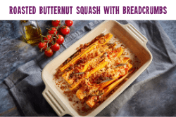 Roasted butternut squash with chilli and herb breadcrumbs