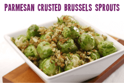 Gluten Free Parmesan and Garlic Crusted Brussels Sprouts Christmas Side Recipe