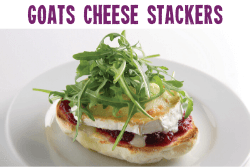 Goats Cheese Stacker Gluten Free Christmas Recipe