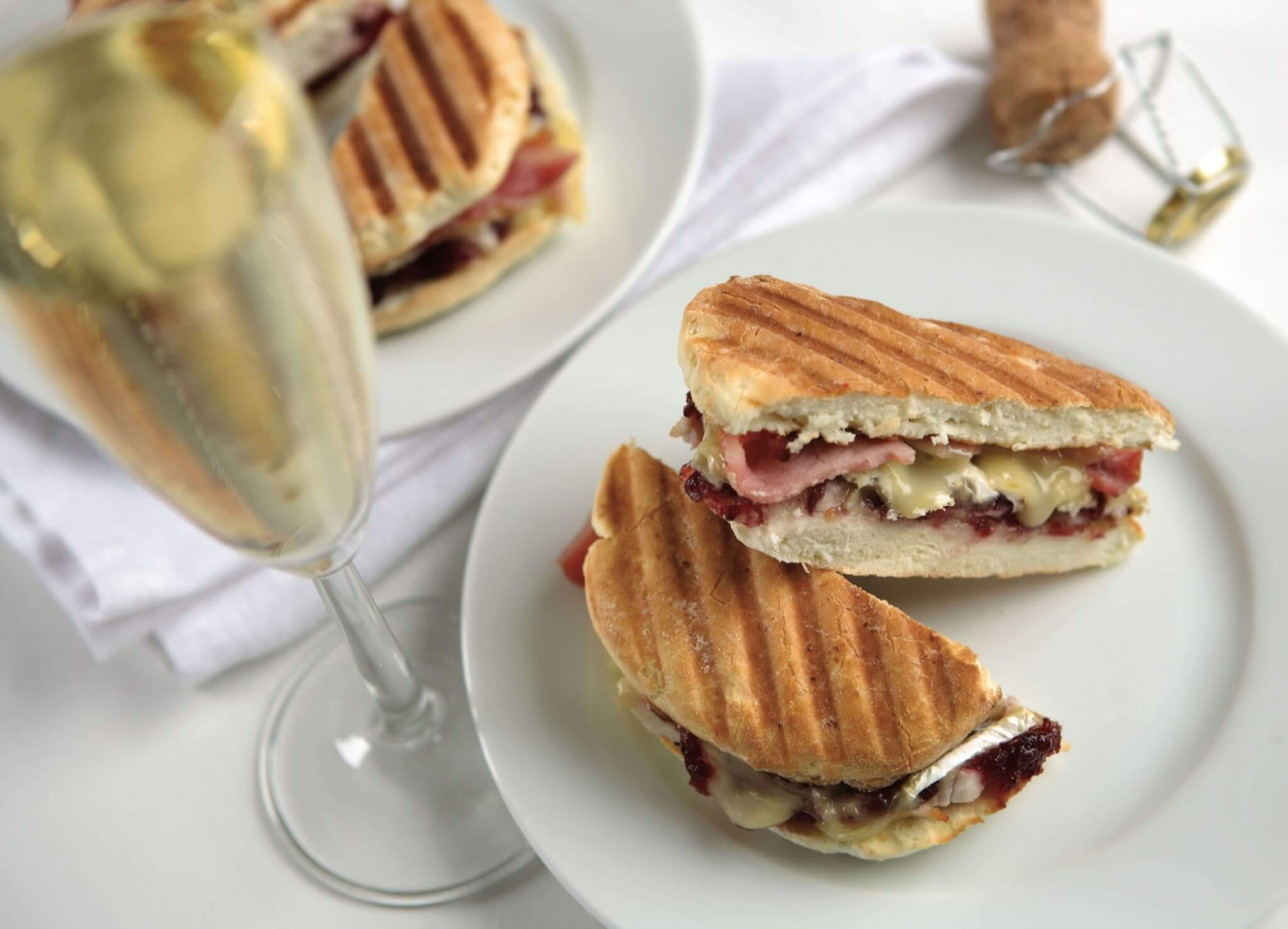 Brie, Bacon and Cranberry Panini